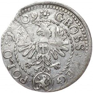 Zygmunt III Waza, grosz 1609, Kraków, nieopisany wariant interpunkcyjny