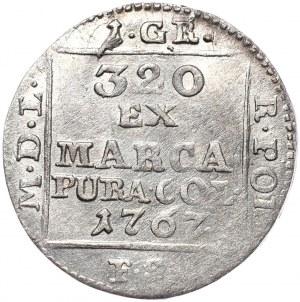 Stanisław August Poniatowski, grosz srebrny 1767 FS, Warszawa