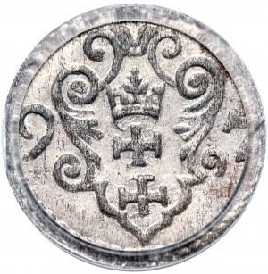 Zygmunt III Waza, denar 1597, Gdańsk