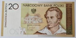 Banknot 20 zł 2009 Juliusz Słowacki