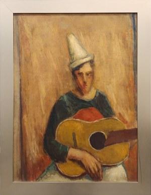 Jerzy Nowosielski, Portret mężczyzny z gitarą (obraz dwustronny), 1945 (42)