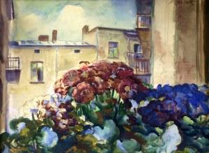 Teodor Grott (1884-1972), Kwiaty w oknie