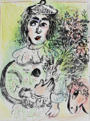 Marc Chagall (1887 - 1985), Clown with flowers