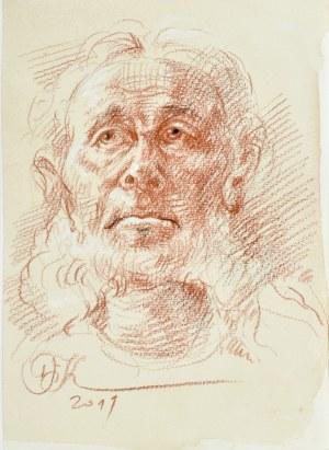 Dariusz Kaleta Dariuss (Ur. 1960), Popiersie mężczyzny z brodą, 2019