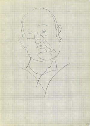 Jerzy Panek (1918-2001), Szkic męskiej głowy