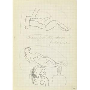 Jerzy Panek (1918-2001), Szkice aktu leżącego, popiersia kobiece