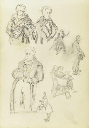 Józef Pieniążek (1888-1953), Szkice portretowe i szkice postaci