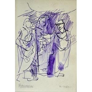 Kazimierz Podsadecki (1904 - 1970), Trzy postacie w antycznych szatach, 1960