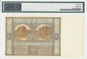 50 złotych 1929 - seria EP - PMG 64