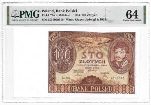 100 złotych 1934 - seria BG - PMG 64