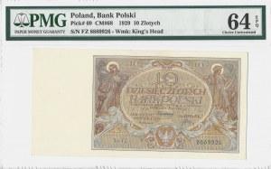 10 złotych 1929 - seria FZ - PMG 64 EPQ
