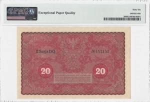 20 marek 1919 - II Serja DQ - PMG 66 EPQ