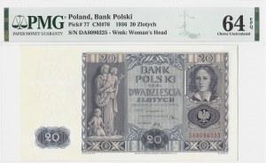 20 złotych 1936 - seria DA - PMG 64 EPQ