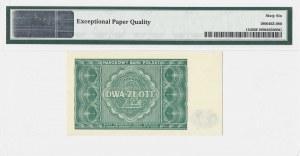 2 złote 1946 - bez serii i numeracji - PMG 66 EPQ