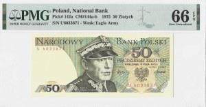 50 złotych 1975 - seria U - PMG 66 EPQ