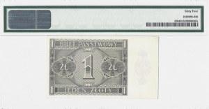 1 złoty 1938 - seria IG - PMG 64