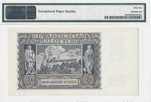 20 złotych 1940 - seria N - PMG 66 EPQ