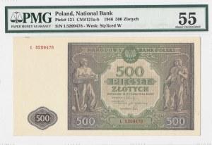 500 złotych 1946 - seria L - PMG 55