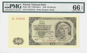 50 złotych 1948 - seria EL - PMG 66 EPQ