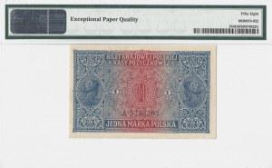 1 marka 1916 - Jenerał - seria A - PMG 58 EPQ