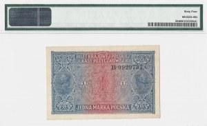 1 marka polska 1916 - jenerał - B - PMG 64 - BARDZO RZADKI
