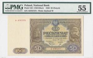 50 złotych 1946 - seria A - PMG 55