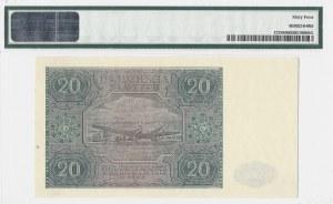 20 złotych 1946 - seria B - PMG 64