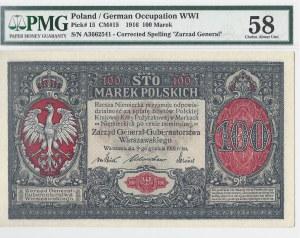 100 marek polskich 1916 - generał - PMG 58