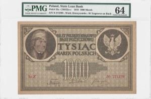 1000 marek polskich 1919 - seria X - PMG 64