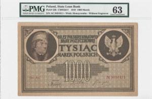 1000 marek polskich 1919 - seria AC - PMG 63