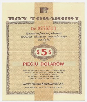 PEWEX - 5 dolarów 1960 - seria DE