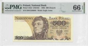 500 złotych 1982 - seria DM - PMG 66 EPQ