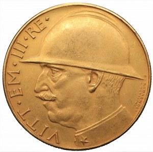 WŁOCHY - Vittorio Emanuele III - medal 1928 - złoto