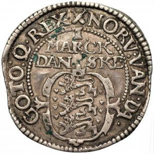 DANIA - Chrystian IV - 1 marka 1615