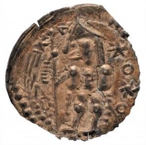 Bolesław V Wstydliwy - Brakteat Kraków (1243-1279) - Rycerz z chorągwią