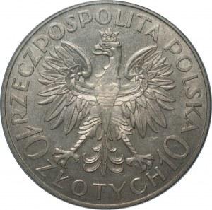 II RP - 10 złotych 1933 - Jan III Sobieski - PCGS AU58