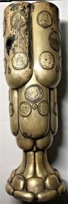 GDAŃSK - Moritz Stumpf & Sohn - puchar z 31 niemieckimi monetami - Srebro 800 - waga 1505 gram