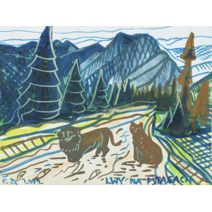 Edward Dwurnik, Lwy na pstrągach, 2002