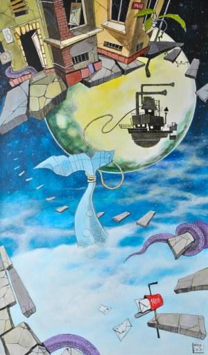 Dariusz Franciszek Różyc (ur. 1978), Wielorybnicy, z cyklu: Nie tak odległe..., 2020