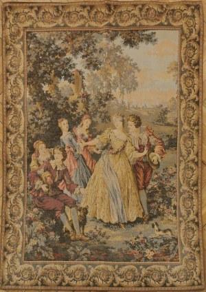 Scena rodzajowa z epoki Ludwika XV w pejzażu, w typie kompozycji F. Bouchera