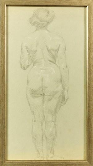 Artysta nieokreślony, Francja?, XIX /XX W., Akt tyłem
