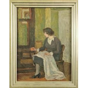 Leonard PĘKALSKI (1896-1944), Portret p. Wandy  P. we wnętrzu