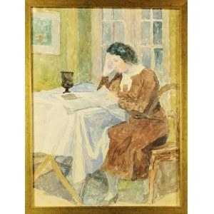 Leonard PĘKALSKI (1896-1944), Pani Wanda P. czytająca gazetę