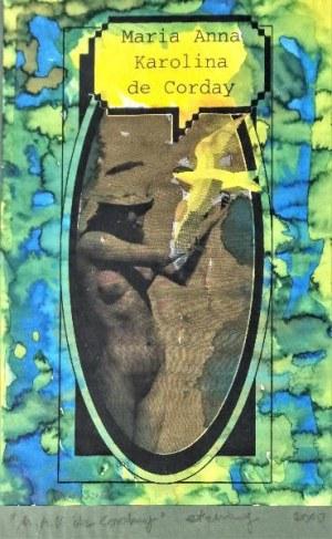 """Tomasz DOMINIK (ur. 1955), Maria Anna Karolina de Corday - ilustracja do książki Ludwika Stommy """"Kobiet czar …"""", 2000"""