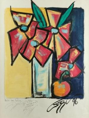 Artysta nieokreślony, Martwa natura z kwiatami, 1996