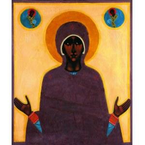 NOWOSIELSKI JERZY, Matka Boża Orantka z teki