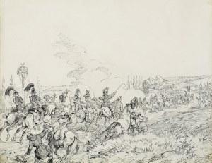 Kossak Juliusz, WJAZD CESARZA FRANCISZKA JÓZEFA I DO LWOWA,1851