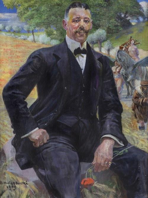 Malczewski Jacek, PORTRET MĘŻCZYZNY Z CZERWONYM MAKIEM, 1909