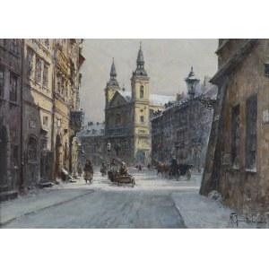 Chmieliński (Stachowicz) Władysław, ULICA FRETA, WIDOK NA KOŚCIÓŁ ŚW. DUCHA