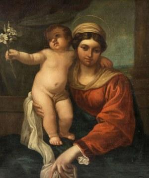 MN- naśladowca Annibale Carracci (1560-1609) (XIX w.), Madonna z dzieciątkiem z lilią